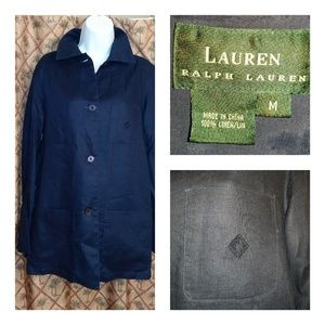 Lauren by Ralph Lauren Navy Linen Jacket M